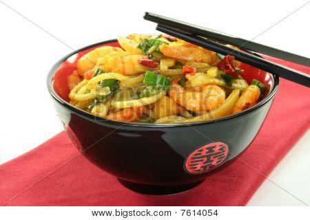 Pasta With Shrimp Asia