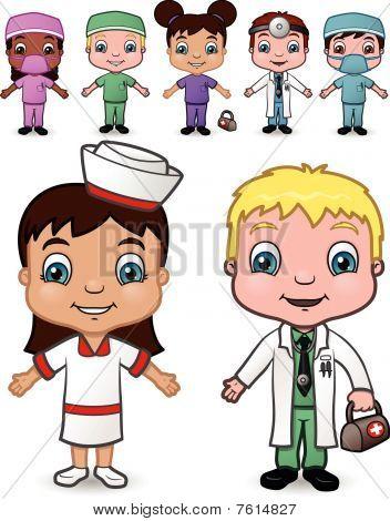 Doctor and Nurse Children set 4