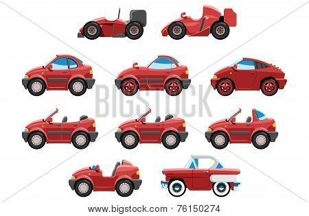 Set Of Sportcar