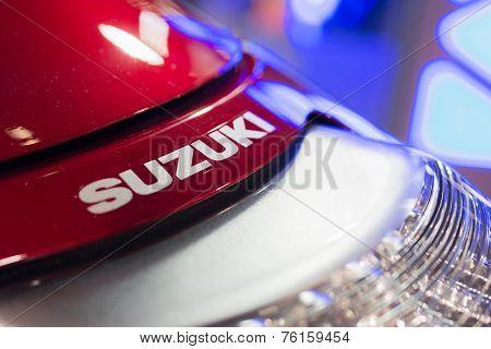 Close-up Of Suzuki Logo Motorcycle