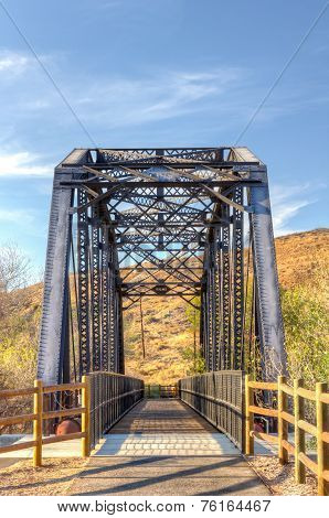 Railroad Bridge Over Iron Horse Trailhead