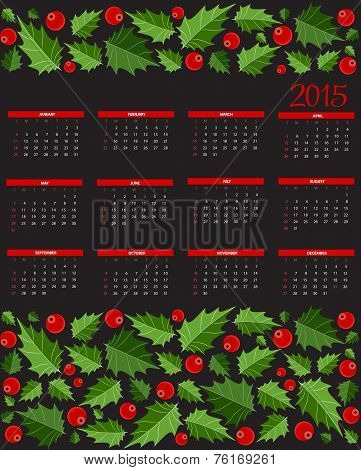 New Year 2015  Calendar Vector Illustration