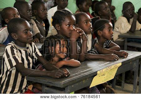 Children Study At Ethiopian School.