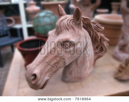Clay Horse Head