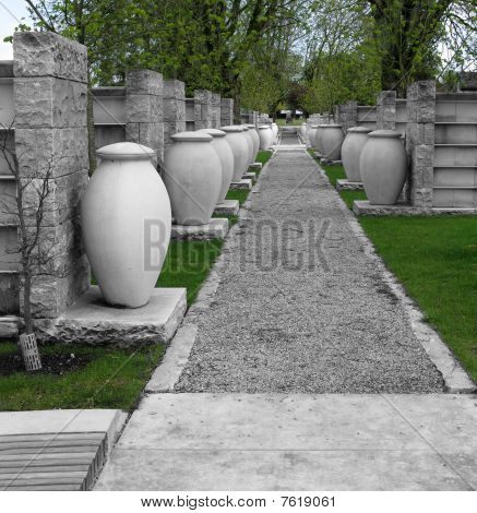 Urns in the Cemetery