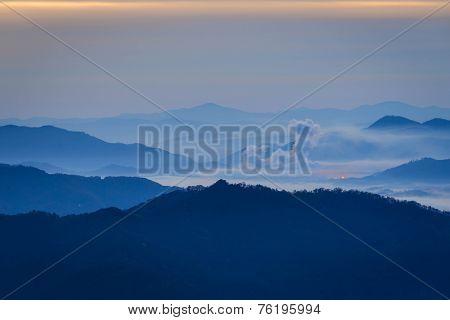 Blue Ridge Mountain Valley Sunrise