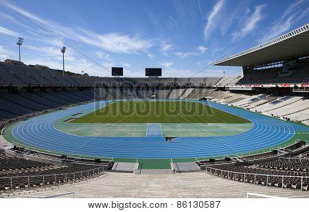 Estadi Olimpic Lluis Companys (Barcelona Stadium) on May 10 2010 i