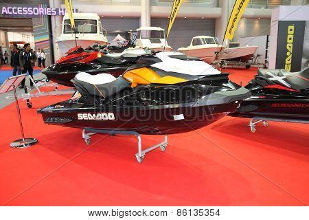 BANGKOK - MARCH 25: Seadoo Jetski on display at The 36 th Bangkok International Motor Show on March