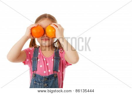 Orange Eyes With Copy Space