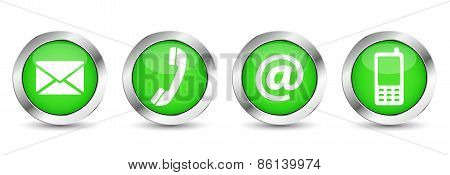 Contact Us Green Web Buttons