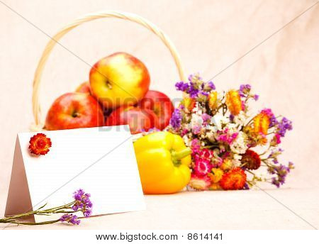Greeting Card And Fruit