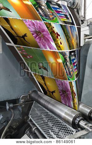 Magazine, catalogue printing machine