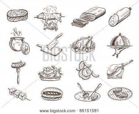 Set of food