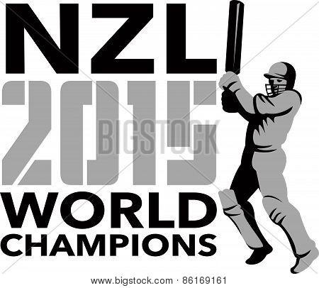 New Zealand Nz Cricket 2015 World Champions