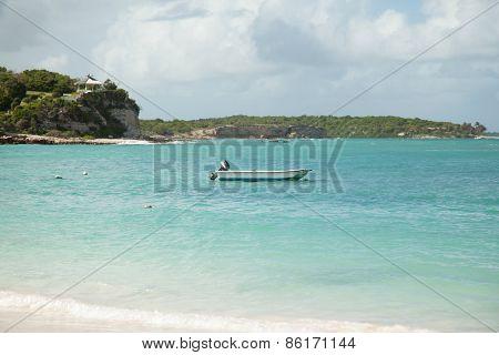 Boat In The Caribbean Sea