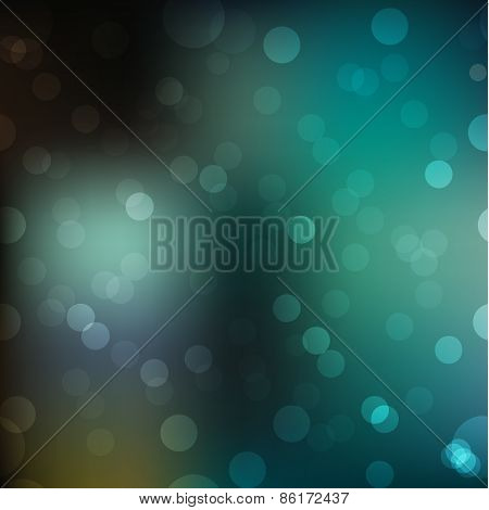 Blur Abstract Bokeh Background With Shiny Elements