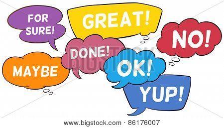 Different wording in speech bubbles