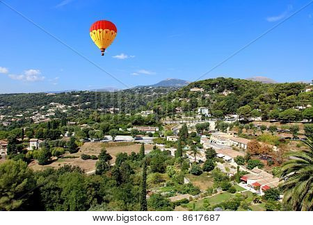 Aerial View From The Village Of Saint-paul France