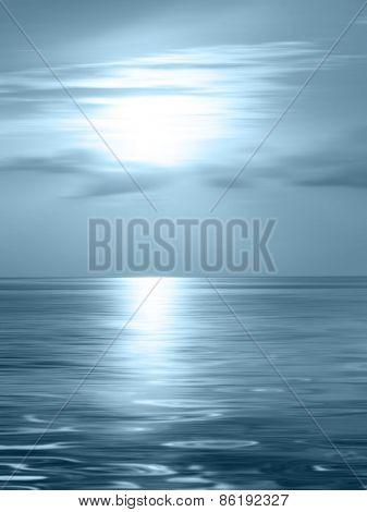 Horizon ocean - abstract calm background