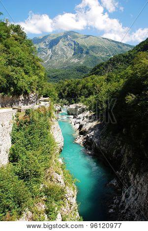 Soca River Near Kobarid