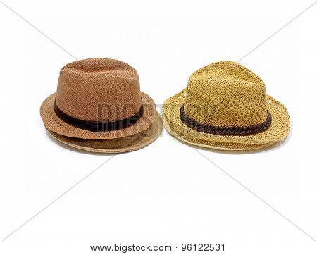 Set of antique Panamanian straw hat