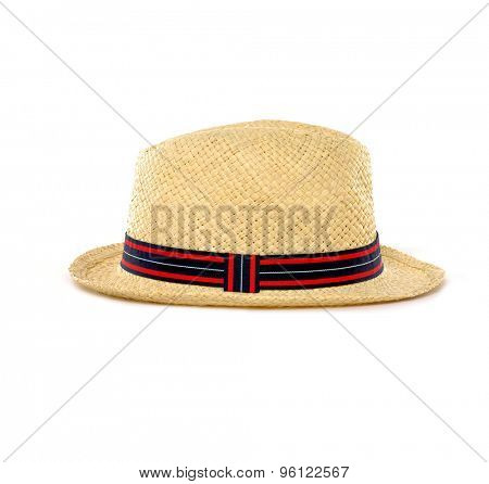 Antique Panamanian hand made straw hat
