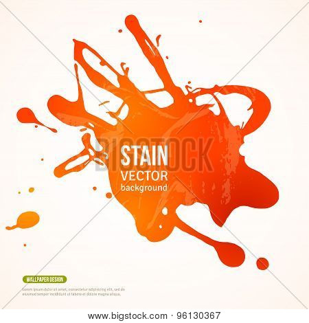 Splatter Paint Banner.  Orange Painted Background