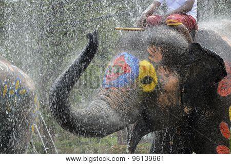 Asia Thailand Ayutthaya Songkran Festival