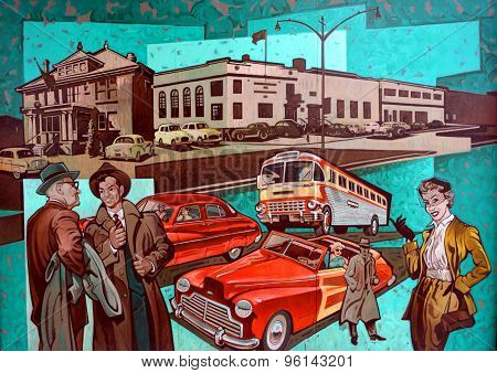 Mural tell the story of Victoria
