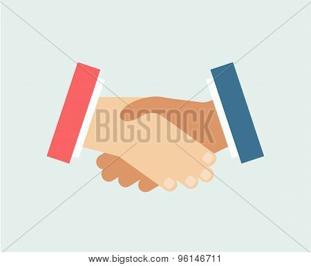 Handshake vector logo icon isolated. Friends, Hands or Team and Communication symbols. Stock design