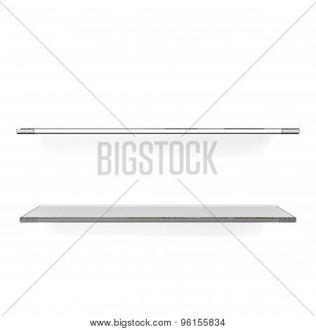 Two Gray Glass Shelfs
