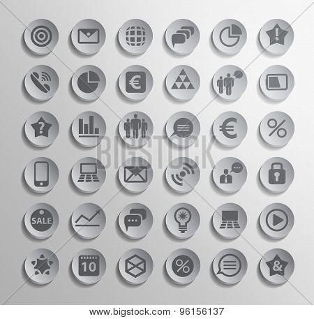 Vector polygonal modern icons