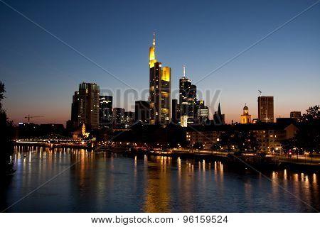Skyline Frankfurt am Main - Stock Image