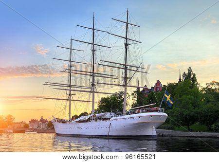 The ship af Chapman in Stockholm Sweden