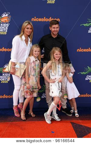 LOS ANGELES - JUL 16:  Alex Gerrard, Steven Gerrard at the 2015 Kids' Choice Sports at the UCLA's Pauley Pavilion on July 16, 2015 in Westwood, CA
