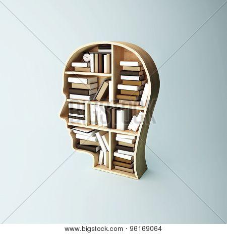 Shelf Head With Book