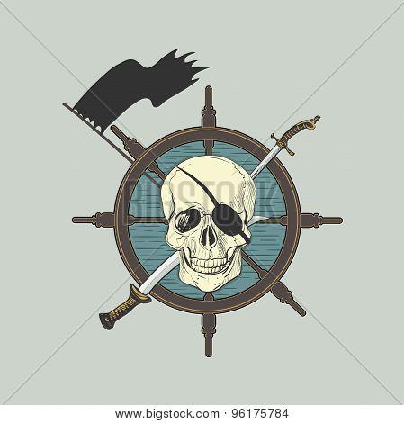 Label pirate theme