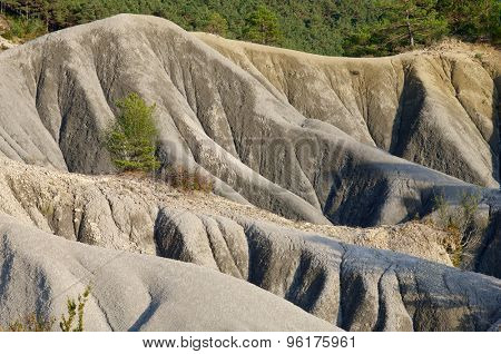 Loam landscape in Pyrenees, Aragon, Spain.