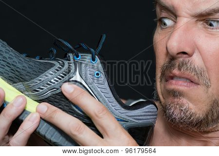 Man Disgusted By Shoes Smell