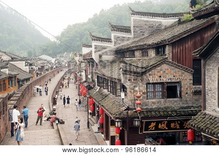 Top View on the wall Of Fenghuang Ancient City.