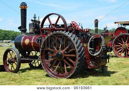 Victorian steam traction engine.
