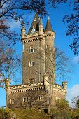 the historic castle dillenburg germany framed by autumnal trees poster