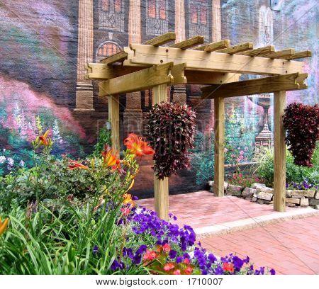 Colorful Garden Wall