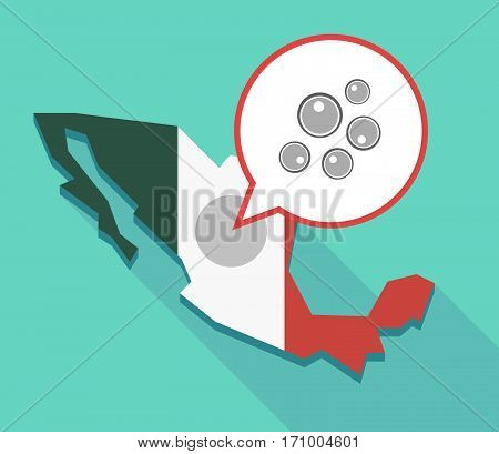 Long Shadow Mexico Map With Oocytes