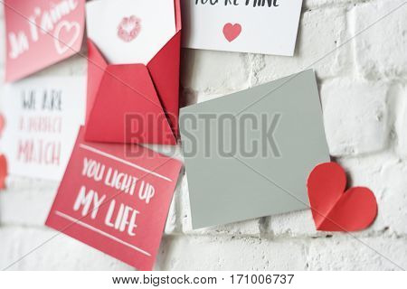 Love Letters Wall Heart T'aime