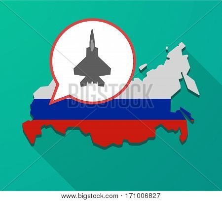 Long Shadow Russia Map With A Combat Plane