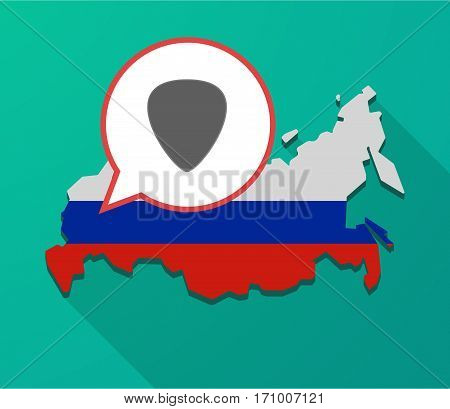 Long Shadow Russia Map With A Plectrum