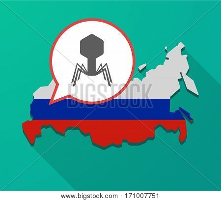 Long Shadow Russia Map With A Virus
