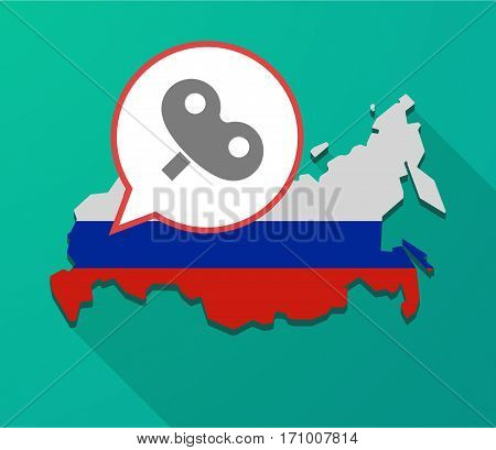 Long Shadow Russia Map With A Toy Crank
