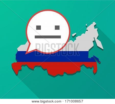 Long Shadow Russia Map With A Emotionless Text Face